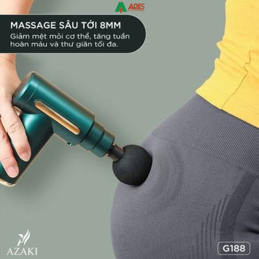 May Massage Azaki G188 gon nhe de dang su dung va mang theo ben minh